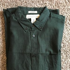 Forest Green Button Down
